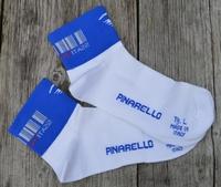 Pinarello Sokken Barcode Wit-Blauw