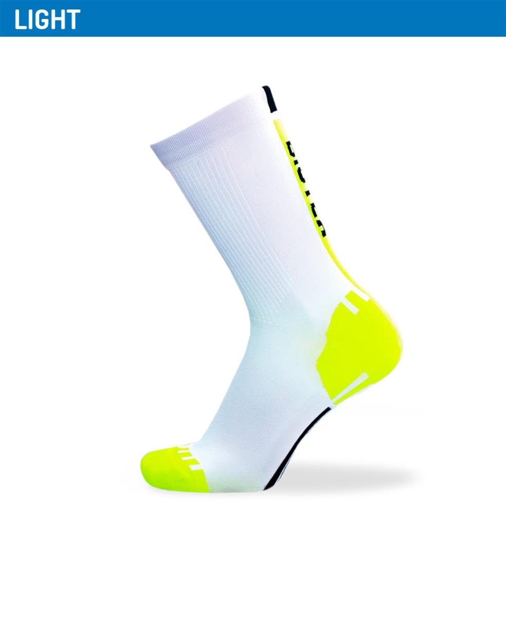 Biotex Fluo Race Sock White-Yellow