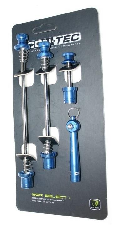 Contec Snelspannerset SQR Select + Blauw Antidieftal
